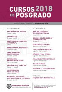 Cursos de Posgrado 2018