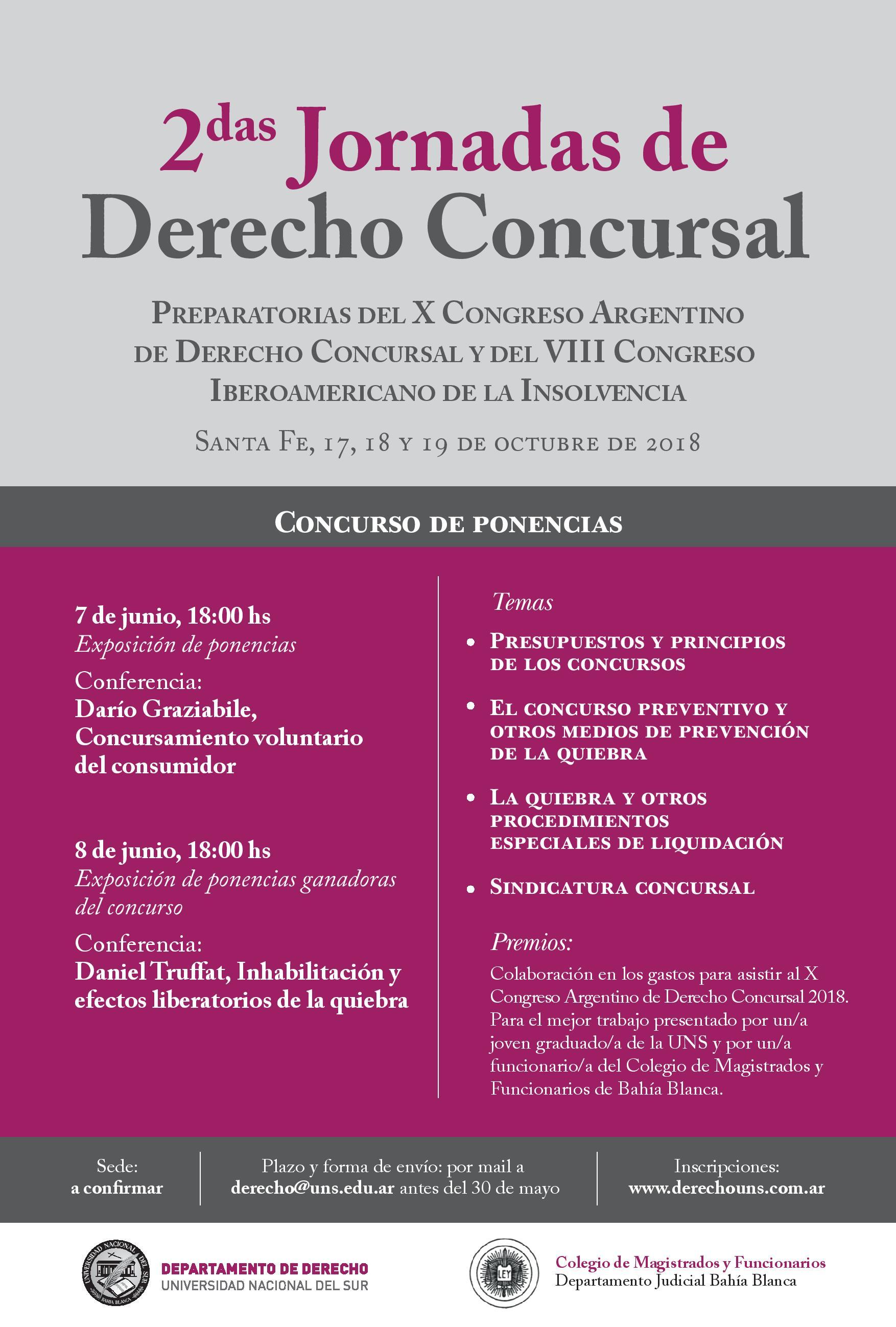 2das Jornadas Derecho Concursal