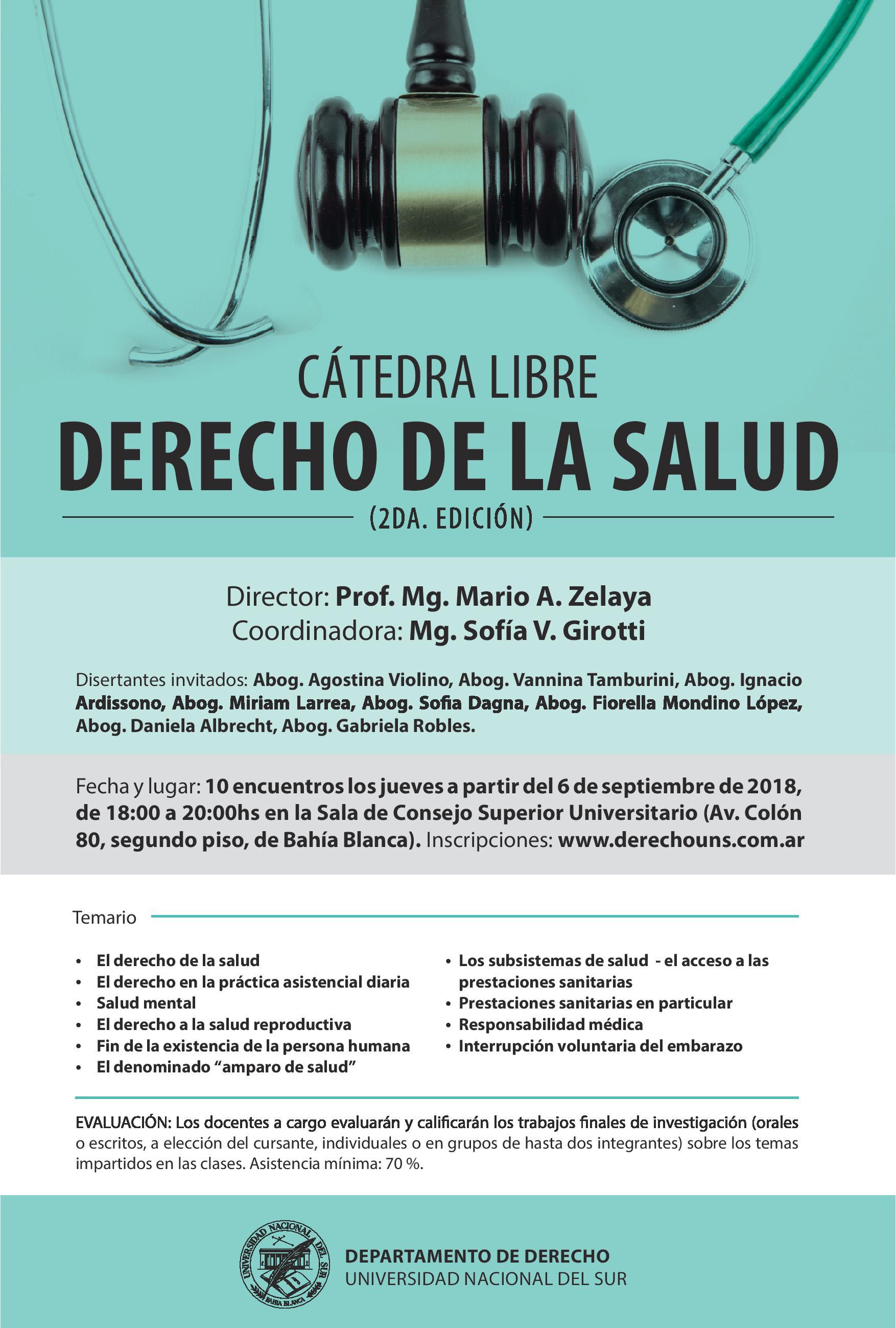 Catedra Libre DERECHO DE LA SALUD
