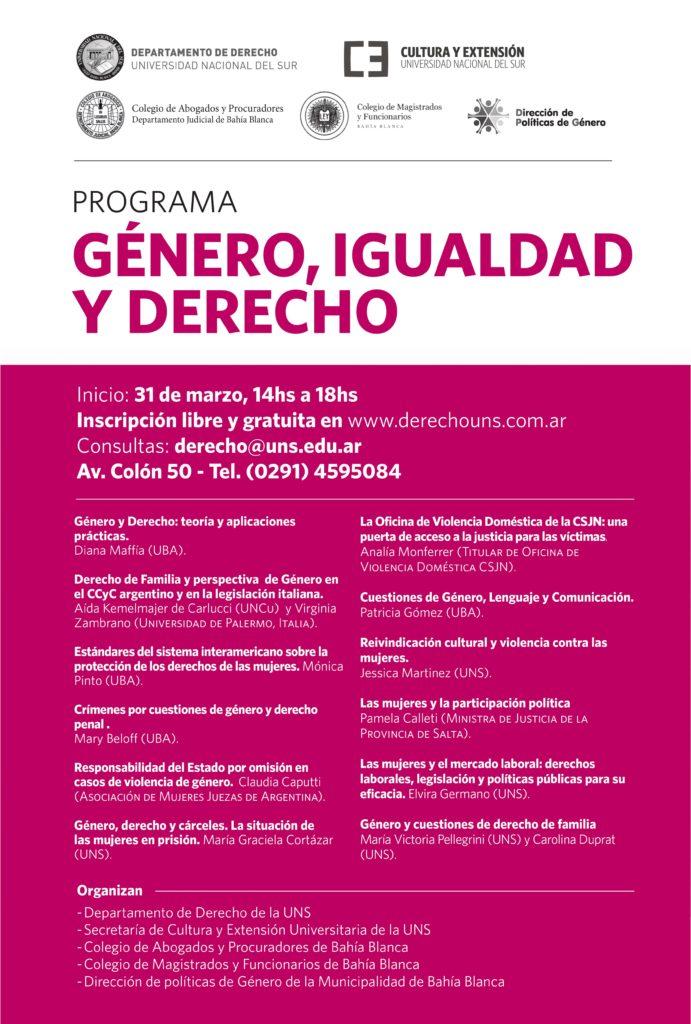 Programa Género Igualdad y Derecho
