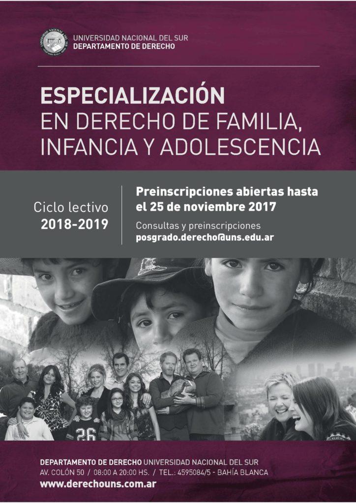 ESPECIALIZACION FAMILIA 2018-2019