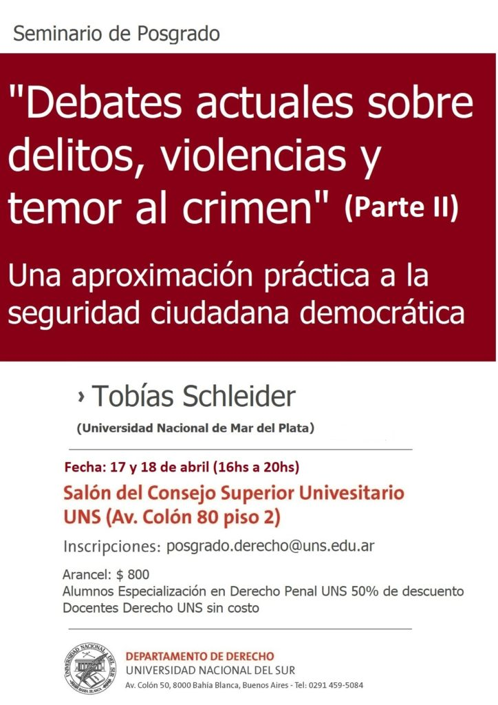 Seminario Schleider - 2da parte