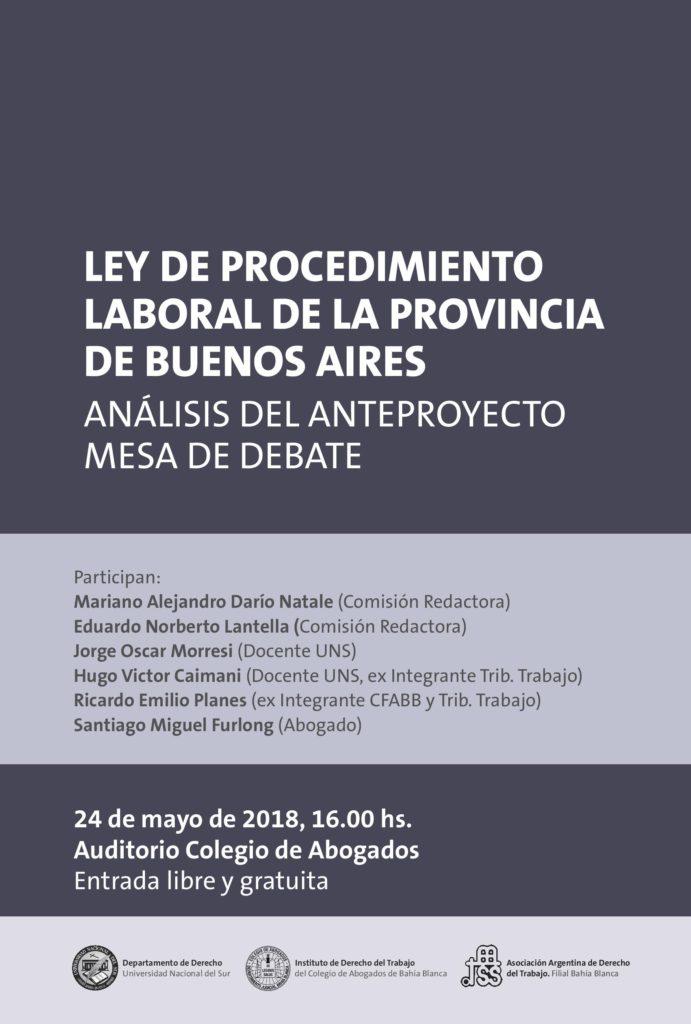Mesa Debate Ley Procedimiento Laboral