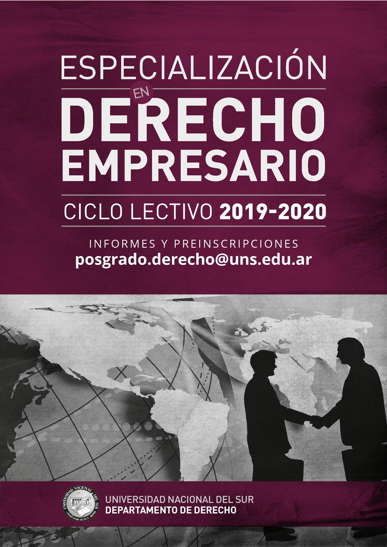 ESPECIALIZACION DERECHO EMPRESARIO 2019