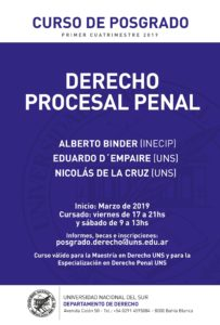 Curso de Posgrado-Procesal Penal