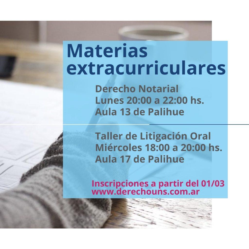 Materias-Extracurriculares