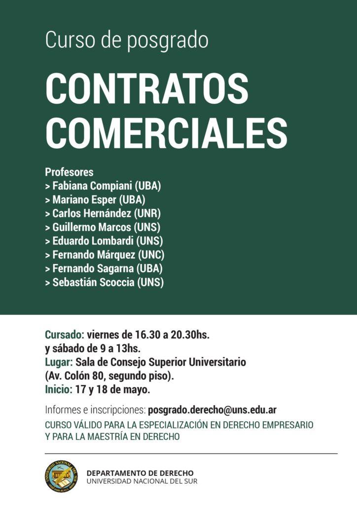 Curso Posgrado Contratos Comerciales