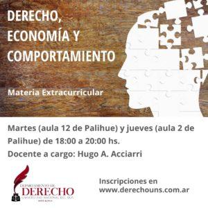 Derecho Economia y Comportamiento