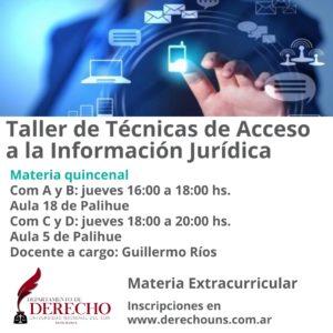 Taller Técnicas de Acceso a la Información Jurídica