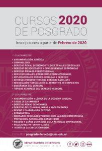 CURSOS DE POSGRADO 2020