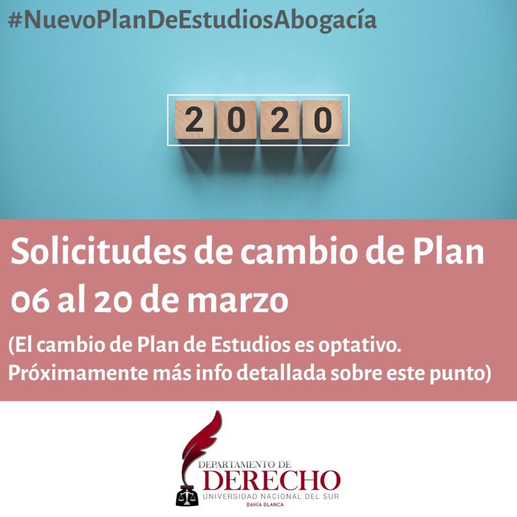 Cambio al Plan 2020