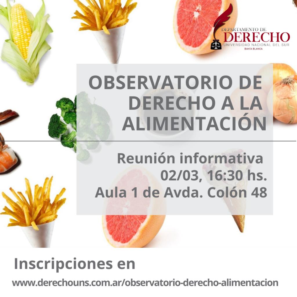 Observatorio Derecho a la Alimentación