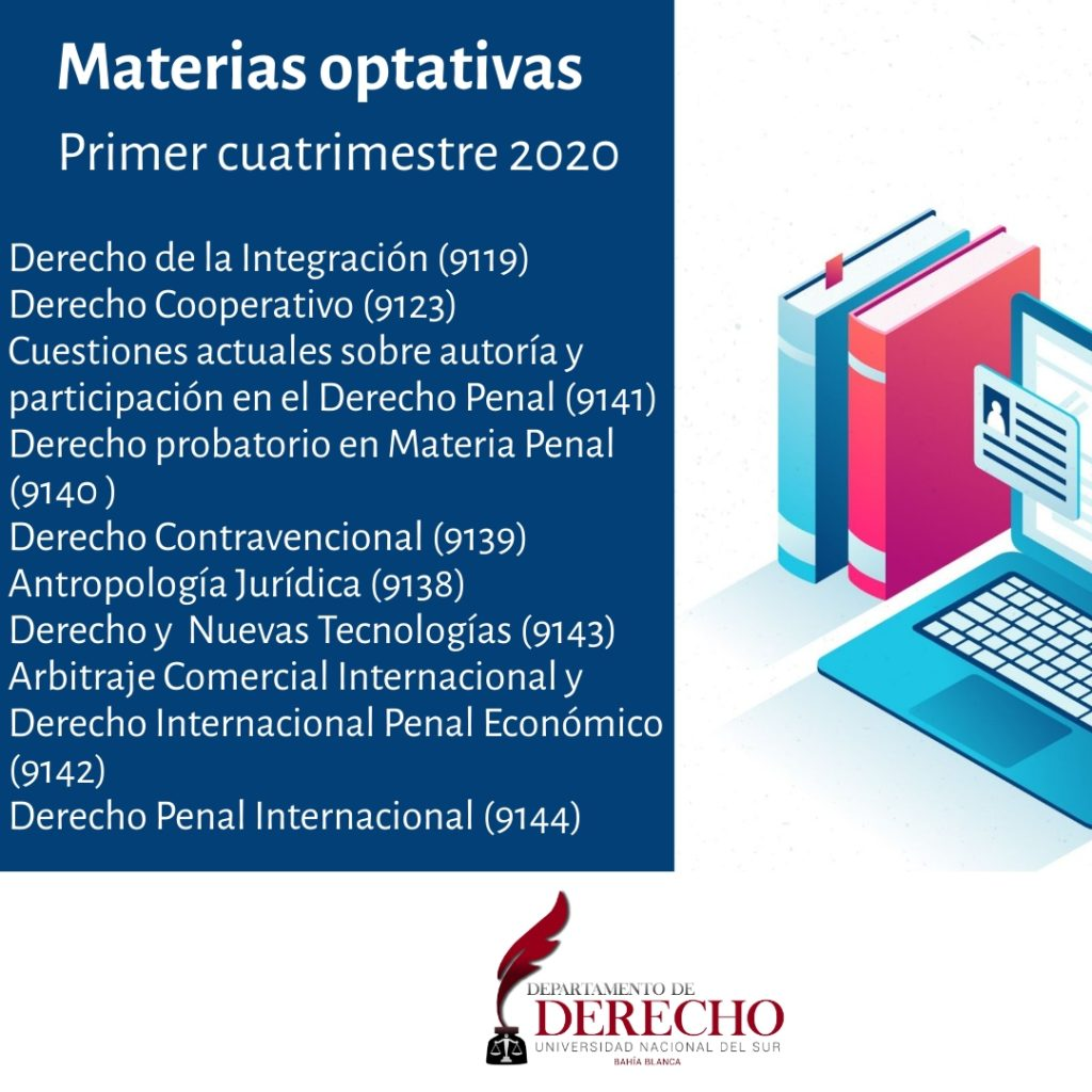 Materias optativas 1er cuat 2020