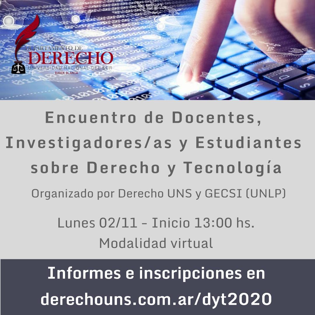 Encuentro Derecho & Tecnología - Inscripciones