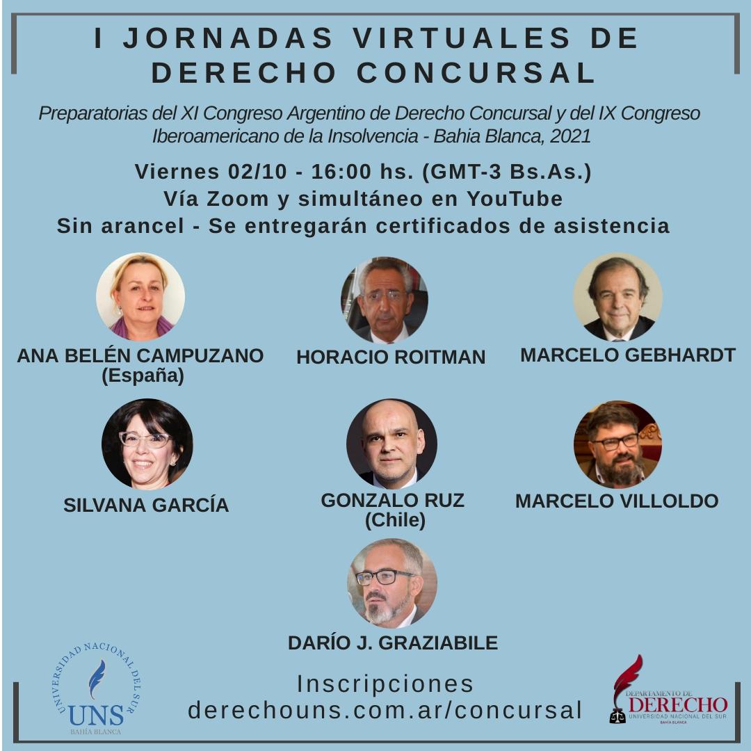 I Jornadas Virtuales Derecho Concursal