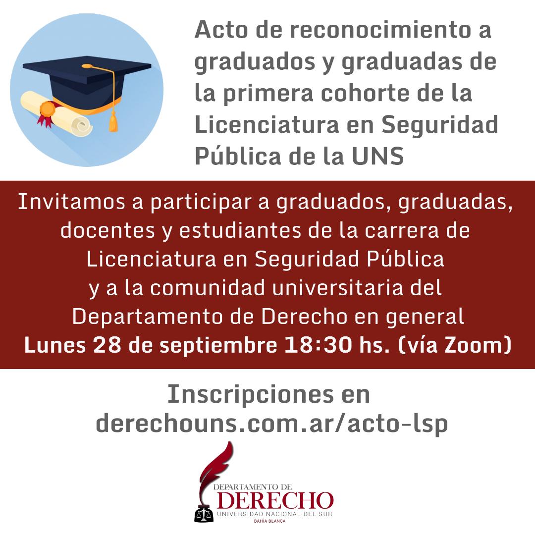 Reconocimiento graduadxs LSP