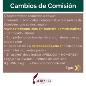 Cambio Comision 01