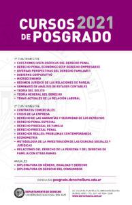 afiche genérico cursos de posgrado 2021