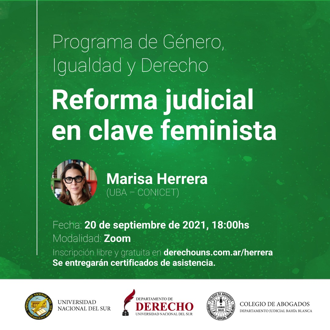 Afiche Programa Género Marisa Herrera