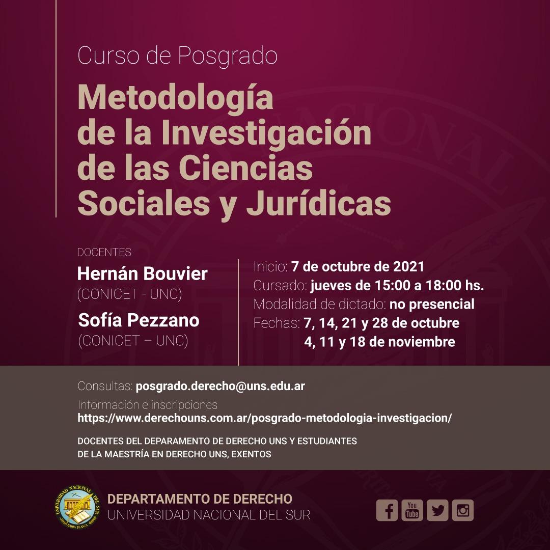 Posgrado-METODOLOGÍA DE LA INVESTIGACIÓN 2021